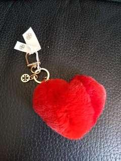 Tory burch 毛毛 鎖匙扣 key ring   (红色/黑色/粉紅色)粉紅色已售出