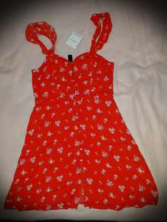 FACTORIE size 8 red floral dress
