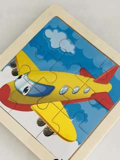 Aero plane wooden jigsaw puzzles- kids party goody bag gift, goodie bag favors