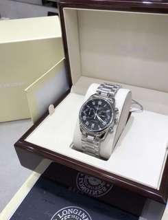 原裝正品行貨🇨🇭瑞士名錶.浪琴【LONGINES 】名匠系列 40mm兩圈計時自動機械男錶