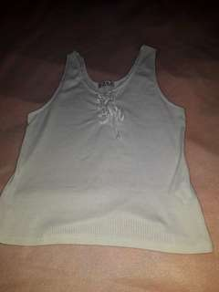COTTON ON size 12 tie up ribbed tank top