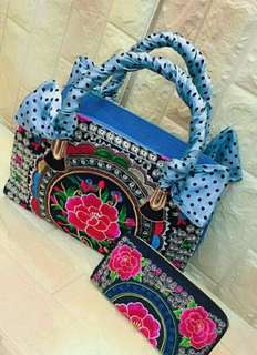 embroided bag made in thailand