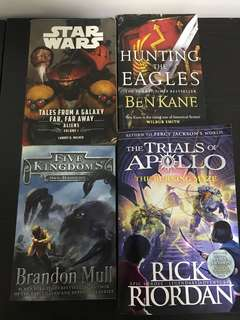Rick Riordan and other famous authors (each book at $10)