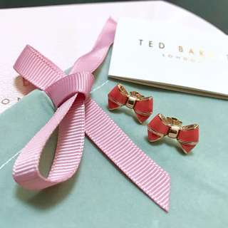 (NEW) Ted Baker Rose Gold Bow Stud Earrings