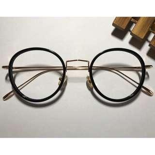 限量中金亮黑色眼鏡(A47)
