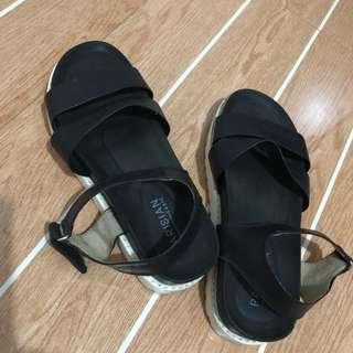 Parisian Leather Sandals