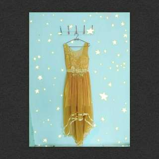 Long Dress Duyung (warna Gold)
