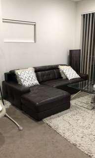 Leather lounge