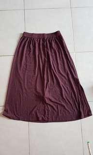 Zara TRF size M Burgundy elastic skirt