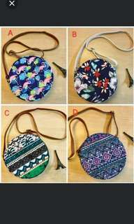 Canvass Round Sling Bag