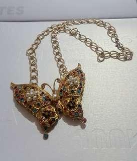 珍珠閃石蝴蝶中長頸鏈