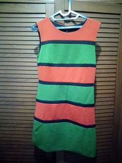 Orange Green Dress