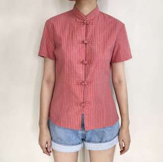 Vintage Chinese Coral Blouse