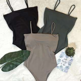 One-Piece Bathing Suit (gray)