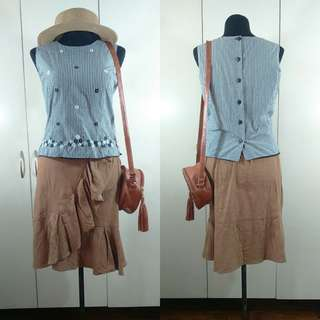 Ladies Sleeveless Gingham Top
