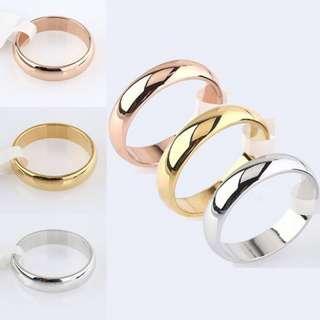1 Pair Titanium Couple Ring