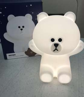 Brand New Line friends Hug Me Brown Bear Rechargeable LED Night Light Touch Lamp