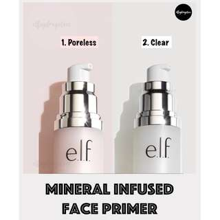 🚚 INSTOCKS Elf Mineral Infused Face Primer [Poreless/Clear]