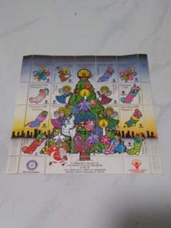 1988 Christmas Stamp Set