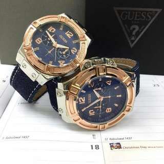 GUESS WATCH COUPLE JEANS