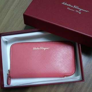 Card holder mini wallet prawn red Salvatore Ferragamo