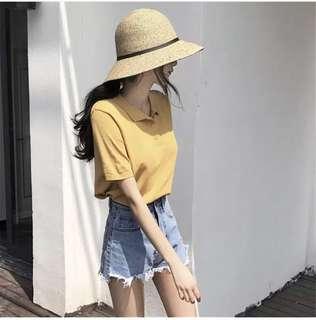 Mustard Yellow Polo Tee