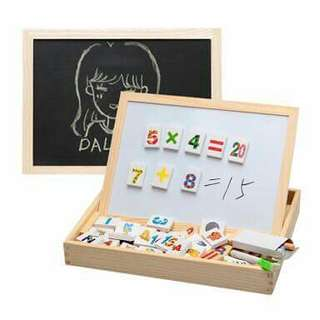 2sided board w/ magnetic board (educational toys)