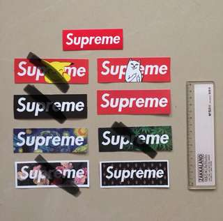 Supreme Logo Waterproof Luggage Laptop Stickers