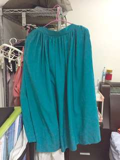 🚚 earth藍綠色長裙