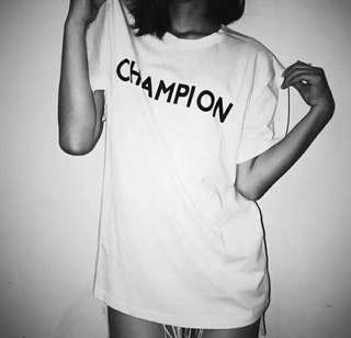 Champion tee in 3 colors