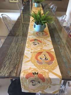 Antique Japanese textile table runner
