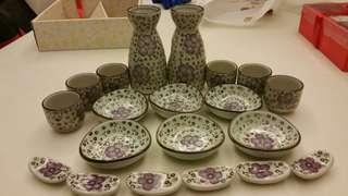 Antique Japanese tea set