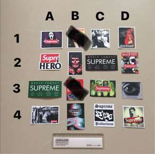 Supreme Waterproof Luggage Laptop Stickers