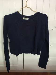Navy Stradivarius Sweater