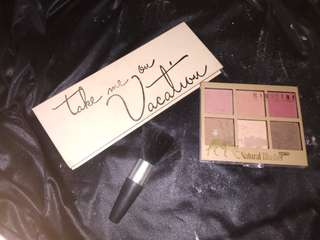 Kylie Take Me On Vacation Eyeshadow and Contour and Blush Palette