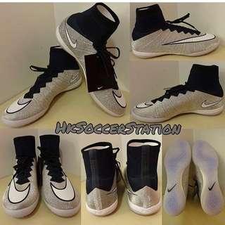 Nike MercurialX SE IC 閃銀色高筒貴版平底足球鞋(限量版)