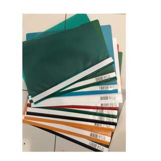 Plastic files 10 pieces cheap selling multiple color refer photo