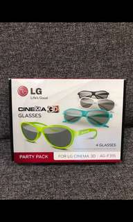 BN LG CINEMA 3D glasses (Party pack of 4) AG-F315