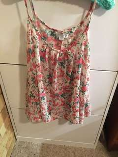 Cotton on strappy floral top small