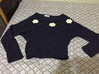 Navy Daisy Sweater