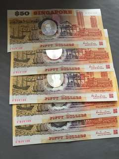 Singapore 25th Anniversary Sg25 $50 Commemorative Note