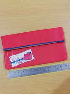 Pencil Case 粉橙色化妝收納袋 筆袋