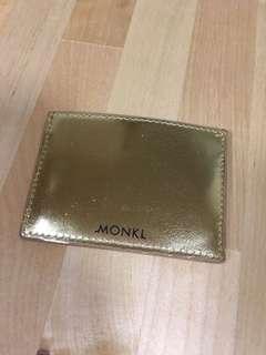 Monki gold colour card holder 金色卡片套