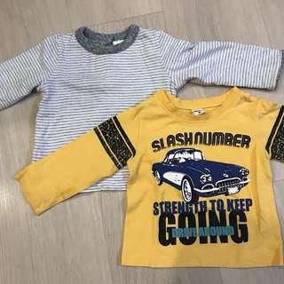 🚚 GAP Baby Boys T- shirt 2pc set / 80cm 12-18m / Free shipping
