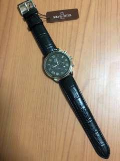 New Solvil Et Titus Automatic Men's Leather Watch