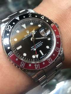 Rolex 17610 ca 2001 coke bezel GMT Master II. With paper  . All original comes with solid bracelet . Mint condition.