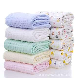 六层纯棉纱浴巾 bb大人都可以用