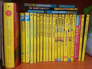 Nancy drew novel collection + hardy boys cheap all must go