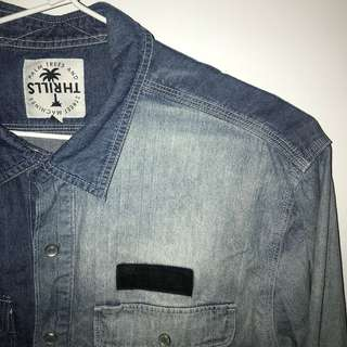 Thrills Denim Button Up