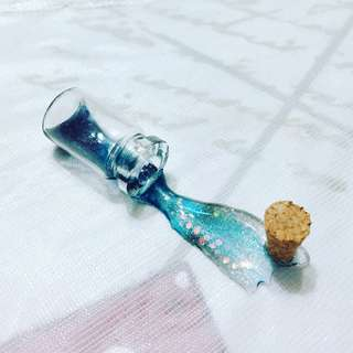 Spilled Galaxy bottle miniature